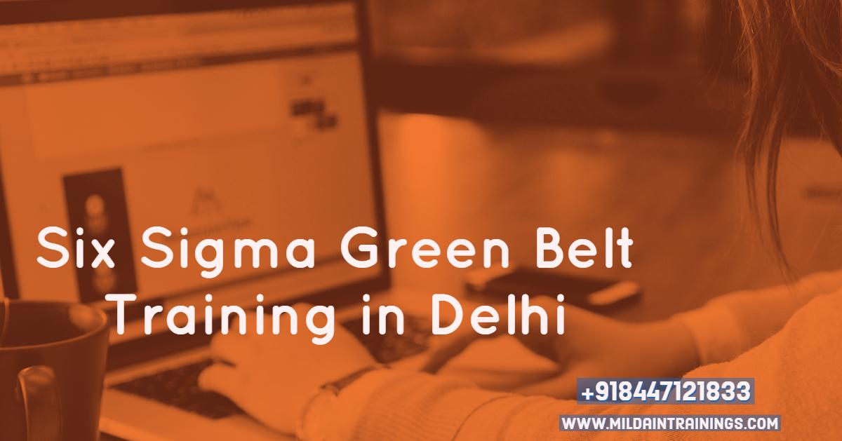 Six Sigma Certification Delhi Green Belt Course Green Belt Training