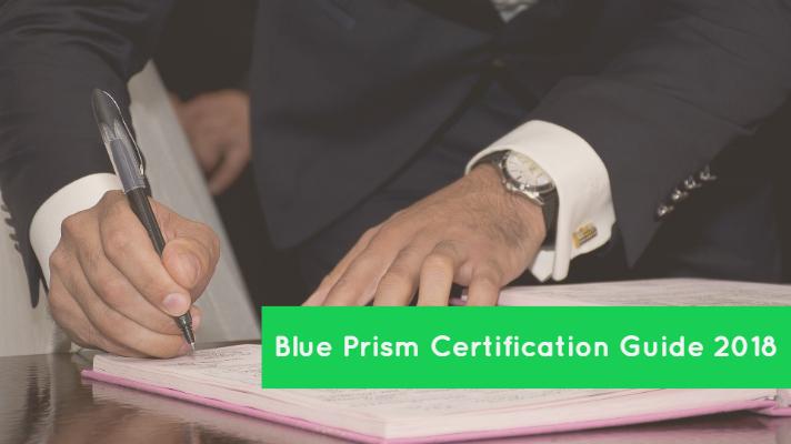 Blue Prism Certification Guide 2018