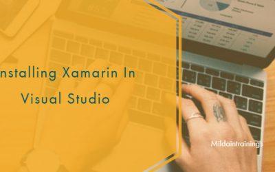 Installing Xamarin In Visual Studio