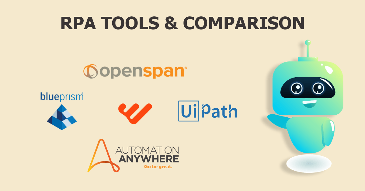 rpa tools and comparison - Mildaintrainings