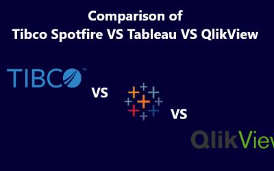 Comparison of Tibco Spotfire Vs.Qlikview Vs. Tableau 2019