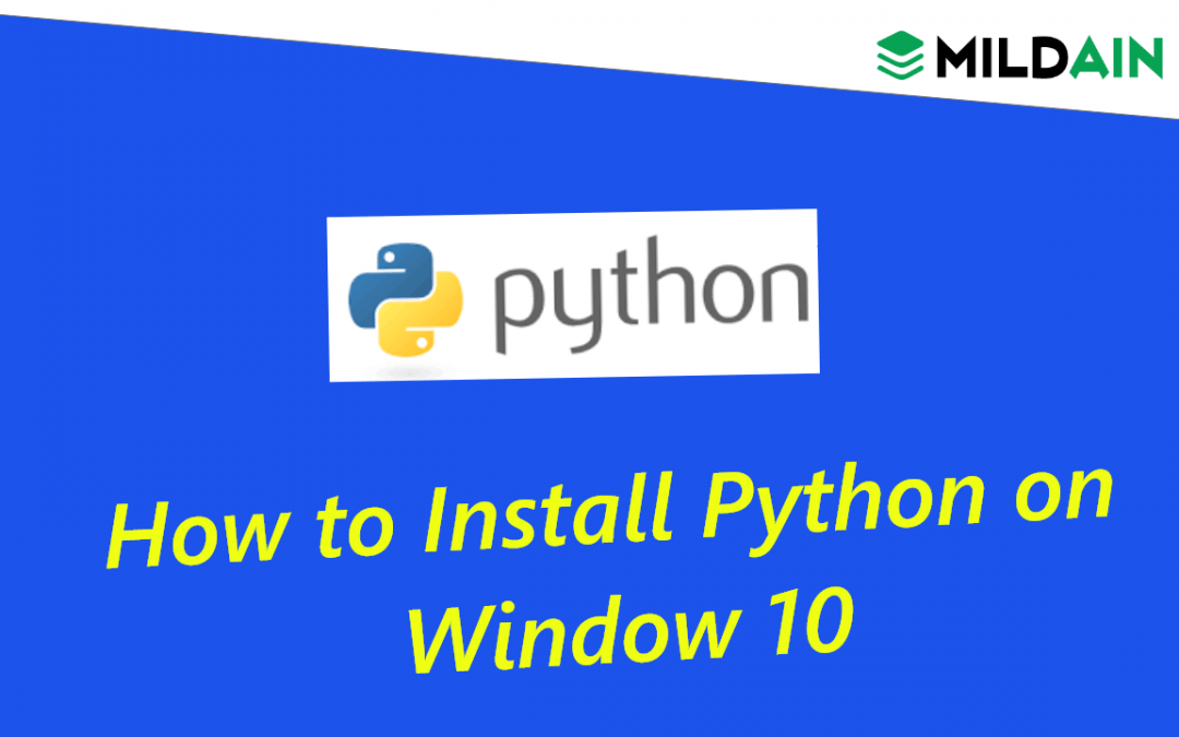 How to Install Python on Window 10