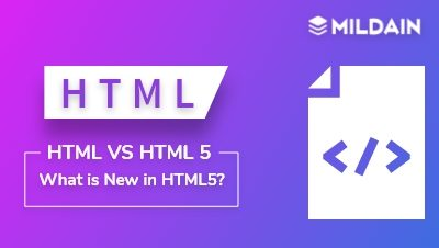 HTML vs HTML5 : What is New in HTML5?